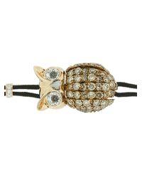 Pippo Perez Metallic Diamond Owl Bracelet