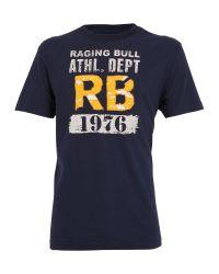 Raging Bull Blue Athl Dept Tee Navy for men