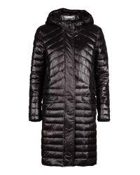 Sandwich Black Quilted Nylon Coat