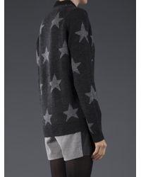 Sea Gray Star Cardigan