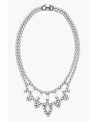 Tom Binns White Painted Crystal Carte Blanche Necklace