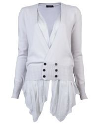 Unconditional White Side Tail Cardigan