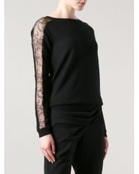 Anne Valerie Hash Black Lace Sleeve Sweater