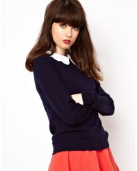 Boutique by Jaeger Blue Knitted Wool Sweater