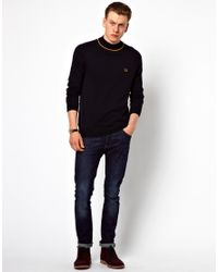 Fred Perry Blue Tipped Turtle Neck for men