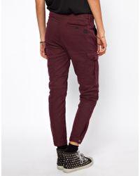 ASOS Purple Gstar Loose Tapered Cargo Pants