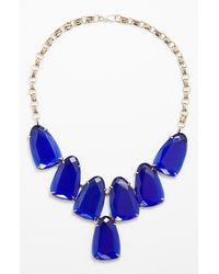 Kendra Scott | Blue 'harlow' Necklace - Cobalt/ Gold | Lyst