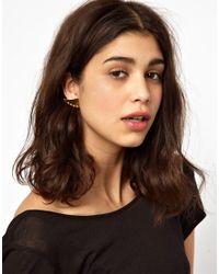 Maria Francesca Pepe   Metallic Thorn Shape Stud Earrings with Spikes   Lyst