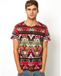 Native Youth Multicolor Geo Geotribal Print Tshirt for men