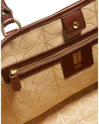 MINKPINK Multicolor Orla Kiely Leather Trim Sunset Floral Willow Shopper Bag