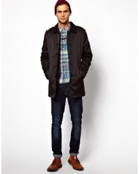 ASOS - Black Selected Trench Coat for Men - Lyst