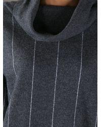 Stella McCartney Gray Striped Sweater