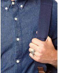 ASOS - Metallic Tally Hoe Buffalo Ring for Men - Lyst