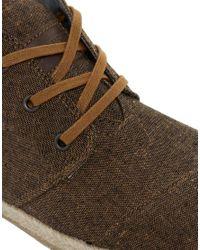 TOMS Brown Toms Botas Desert Boots for men