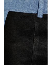 Acne Studios Blue Best Leather and Stretchdenim Leggingsstyle Pants