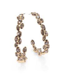 Alexis Bittar | Metallic Crystal Vine Hoop Earrings175 | Lyst