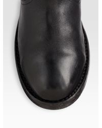 Burberry Black Kerry Shearlinglined Leather Foldover Boots