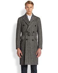Burberry | Black Fairwood Wool Coat for Men | Lyst
