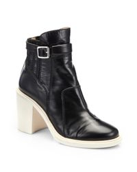 Elizabeth and James | Black Tempt Patent Leather Ankle Boots | Lyst