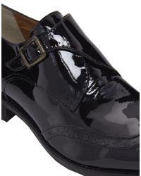 Ganni Black Camilla Patent Brogue Shoes