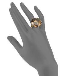 Ippolita - Metallic Gemma Collection Smokey Quartz and 18k Yellow Gold Large Ring - Lyst
