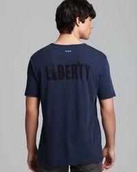 John Varvatos   Blue Usa Statue Of Liberty Graphic Tee for Men   Lyst