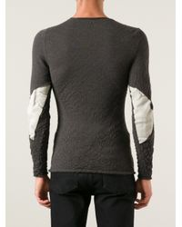 Label Under Construction Gray Designers Sweater for men