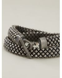 Laura B | Metallic Bead Chain Bracelet | Lyst