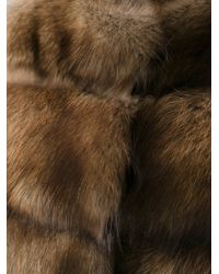 Liska Brown Fur Gilet