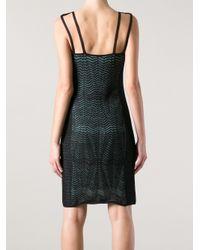 M Missoni Black Zig zag Knit Dress