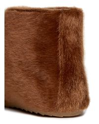 MM6 by Maison Martin Margiela Brown Faux-pony Desert Booties