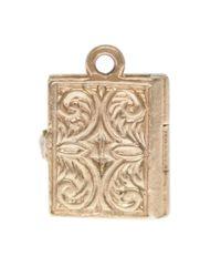 Annina Vogel - Metallic 9ct Gold Vintage Bible Charm - Lyst