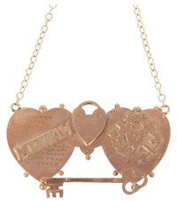Annina Vogel - Metallic Mizpah Victorian Brooch Conversion Necklace - Lyst