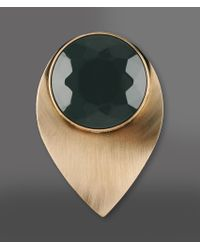 Emporio Armani | Green Brooch | Lyst