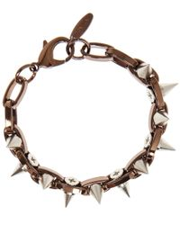 Joomi Lim - Brown Bronzetone Metalluxe Double Row Spike Bracelet for Men - Lyst