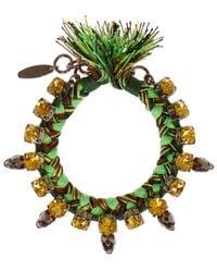 Joomi Lim Green Punk Carnival Skull Bracelet