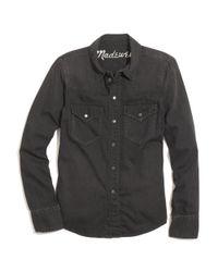 Madewell Black Western Jean Shirt In Gravel