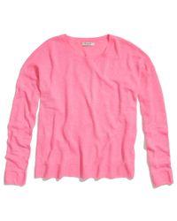 Madewell Pink Linen Studio Sweater