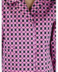 Marni Pink Geometric Pattern Jacket