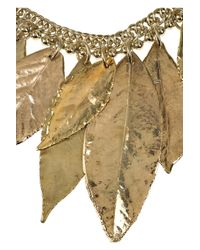 Marni Metallic Copper-dipped Leaf Necklace