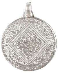 Monica Vinader Metallic Silver Mini Marie Pendant for men