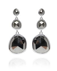 Monica Vinader | Metallic Small Silver Pyrite Siren Cocktail Earrings | Lyst