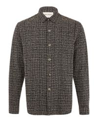 Our Legacy Blue Navy Boucle Textured Shirt for men
