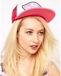 Vans Pink Beach Girl Trucker Hat