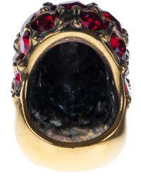 Alexander McQueen | Purple Ruby Embellished Skull Ring | Lyst