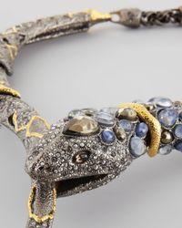 Alexis Bittar Metallic Pave Crystal Snake Necklace