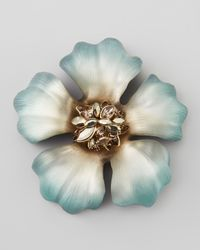 Alexis Bittar - Blue Neo Boho Ombre Anemone Marquise Cluster Flower Pin - Lyst