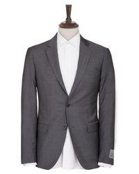 CK Calvin Klein Gray Plain Suit for men