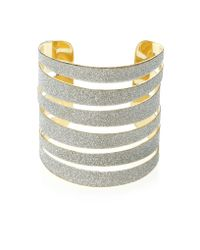 Dune Metallic Jitter Cut Out Detail Glitter Bracelet