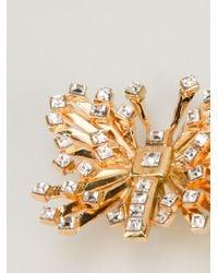 Emanuel Ungaro Metallic Butterfly Earrings